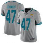 Cheap Nike Jaguars #47 Joe Schobert Silver Youth Stitched NFL Limited Inverted Legend Jersey
