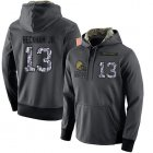 Cheap NFL Men's Nike Cleveland Browns #13 Odell Beckham Jr Stitched Black Anthracite Salute to Service Player Performance Hoodie