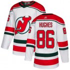 Cheap Adidas Devils #86 Jack Hughes White Alternate Authentic Stitched NHL Jersey