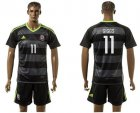 Cheap Wales #11 Giggs Black Away Soccer Country Jersey