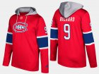Cheap Canadiens #9 Maurice Richard Red Name And Number Hoodie