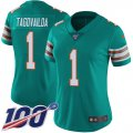 Cheap Nike Dolphins #1 Tua Tagovailoa Aqua Green Alternate Women's Stitched NFL 100th Season Vapor Untouchable Limited Jersey
