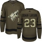 Cheap Adidas Coyotes #23 Oliver Ekman-Larsson Green Salute to Service Stitched Youth NHL Jersey
