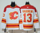 Cheap Adidas Flames #13 Johnny Gaudreau White Authentic 2019 Heritage Classic Stitched NHL Jersey