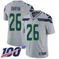 Cheap Nike Seahawks #26 Shaquem Griffin Grey Alternate Men's Stitched NFL 100th Season Vapor Limited Jersey