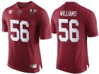 Cheap Men's Alabama Crimson Tide #56 Tim Williams Red 2017 Championship Game Patch Stitched CFP Nike Limited Jersey