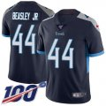 Cheap Nike Titans #44 Vic Beasley Jr Navy Blue Team Color Youth Stitched NFL 100th Season Vapor Untouchable Limited Jersey