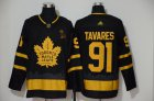 Cheap Adidas Maple Leafs #91 John Tavares Black City Edition Authentic Stitched NHL Jersey