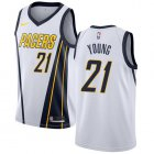 Cheap Nike Pacers #21 Thaddeus Young White NBA Swingman Earned Edition Jersey