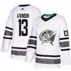Cheap Adidas Blue Jackets #13 Cam Atkinson White Authentic 2019 All-Star Stitched Youth NHL Jersey