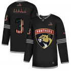 Cheap Florida Panthers #3 Keith Yandle Adidas Men's Black USA Flag Limited NHL Jersey