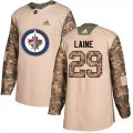 Cheap Adidas Jets #29 Patrik Laine Camo Authentic 2017 Veterans Day Stitched Youth NHL Jersey