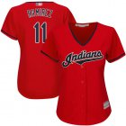 Cheap Indians #11 Jose Ramirez Red Women's Stitched MLB Jersey