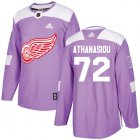 Cheap Adidas Red Wings #72 Andreas Athanasiou Purple Authentic Fights Cancer Stitched Youth NHL Jersey
