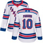 Cheap Adidas Rangers #10 Artemi Panarin White Road Authentic Women's Stitched NHL Jersey