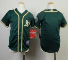 Cheap Athletics Blank Green Cool Base Stitched Youth MLB Jersey