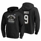 Cheap New Orleans Saints #9 Drew Brees 2019 NFC South Division Champions Black Cover Two Hoodie