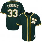 Cheap Athletics #33 Jose Canseco Green Cool Base Stitched Youth MLB Jersey