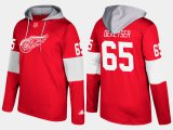Cheap Red Wings #65 Danny DeKeyser Red Name And Number Hoodie