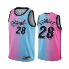 Cheap Nike Heat #28 Andre Iguodala Blue Pink NBA Swingman 2020-21 City Edition Jersey
