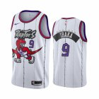 Cheap Nike Raptors #9 Serge Ibaka White 2019-20 Hardwood Classic Edition Stitched NBA Jersey