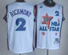 Cheap NBA 1995 All-Star #2 Mitch Richmond White Hardwood Classics Soul Swingman Throwback Jersey