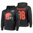 Cheap Cleveland Browns #88 Sheldon Richardson Nike NFL 100 Primary Logo Circuit Name & Number Pullover Hoodie Anthracite