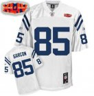 Cheap Colts #85 Pierre Garcon White With Super Bowl Patch Stitched NFL Jersey
