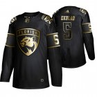 Cheap Adidas Panthers #5 Aaron_Ekblad Men's 2019 Black Golden Edition Authentic Stitched NHL Jersey