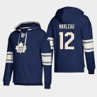 Cheap Toronto Maple Leafs #12 Patrick Marleau Blue adidas Lace-Up Pullover Hoodie