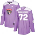 Cheap Adidas Panthers #72 Sergei Bobrovsky Purple Authentic Fights Cancer Stitched Youth NHL Jersey