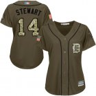 Cheap Tigers #14 Christin Stewart Green Salute to Service Women's Stitched MLB Jersey