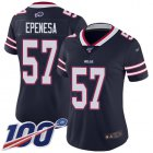 Cheap Nike Bills #57 A.J. Epenesas Navy Women's Stitched NFL Limited Inverted Legend 100th Season Jersey