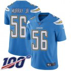 Cheap Nike Chargers #56 Kenneth Murray Jr Electric Blue Alternate Youth Stitched NFL 100th Season Vapor Untouchable Limited Jersey