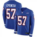 Cheap Nike Bills #57 A.J. Epenesas Royal Blue Team Color Men's Stitched NFL Limited Therma Long Sleeve Jersey