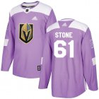 Cheap Adidas Golden Knights #61 Mark Stone Purple Authentic Fights Cancer Stitched Youth NHL Jersey