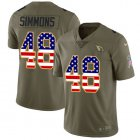 Cheap Nike Cardinals #48 Isaiah Simmons Olive/USA Flag Youth Stitched NFL Limited 2017 Salute To Service Jersey