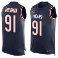 Cheap Nike Bears #91 Eddie Goldman Navy Blue Team Color Men's Stitched NFL Limited Tank Top Jersey
