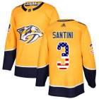 Cheap Adidas Predators #3 Steven Santini Yellow Home Authentic USA Flag Stitched NHL Jersey