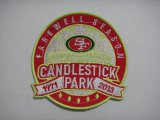 Cheap Stitched NFL San Francisco 49ers Candlestick Park Farewell Season Patch