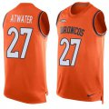 Cheap Nike Broncos #27 Steve Atwater Orange Team Color Men's Stitched NFL Limited Tank Top Jersey