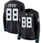 Cheap Nike Jaguars #88 Tyler Eifert Black Team Color Women's Stitched NFL Limited Therma Long Sleeve Jersey