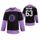 Cheap Adidas Bruins #63 Brad Marchand Men's Black Hockey Fights Cancer Practice NHL Jersey
