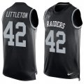 Cheap Nike Raiders #42 Cory Littleton Black Team Color Men's Stitched NFL Limited Tank Top Jersey