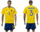 Cheap Ukraine #3 Khaceridi Home Soccer Country Jersey
