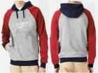 Cheap Los Angeles Dodgers Pullover Hoodie Grey & Red