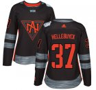 Cheap Team North America #37 Connor Hellebuyck Black 2016 World Cup Women's Stitched NHL Jersey