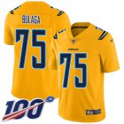 Cheap Nike Chargers #75 Bryan Bulaga Gold Youth Stitched NFL Limited Inverted Legend 100th Season Jersey
