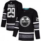 Cheap Adidas Oilers #29 Leon Draisaitl Black Authentic 2019 All-Star Stitched Youth NHL Jersey