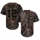 Cheap Reds #12 Curt Casali Camo Realtree Collection Cool Base Stitched MLB Jersey